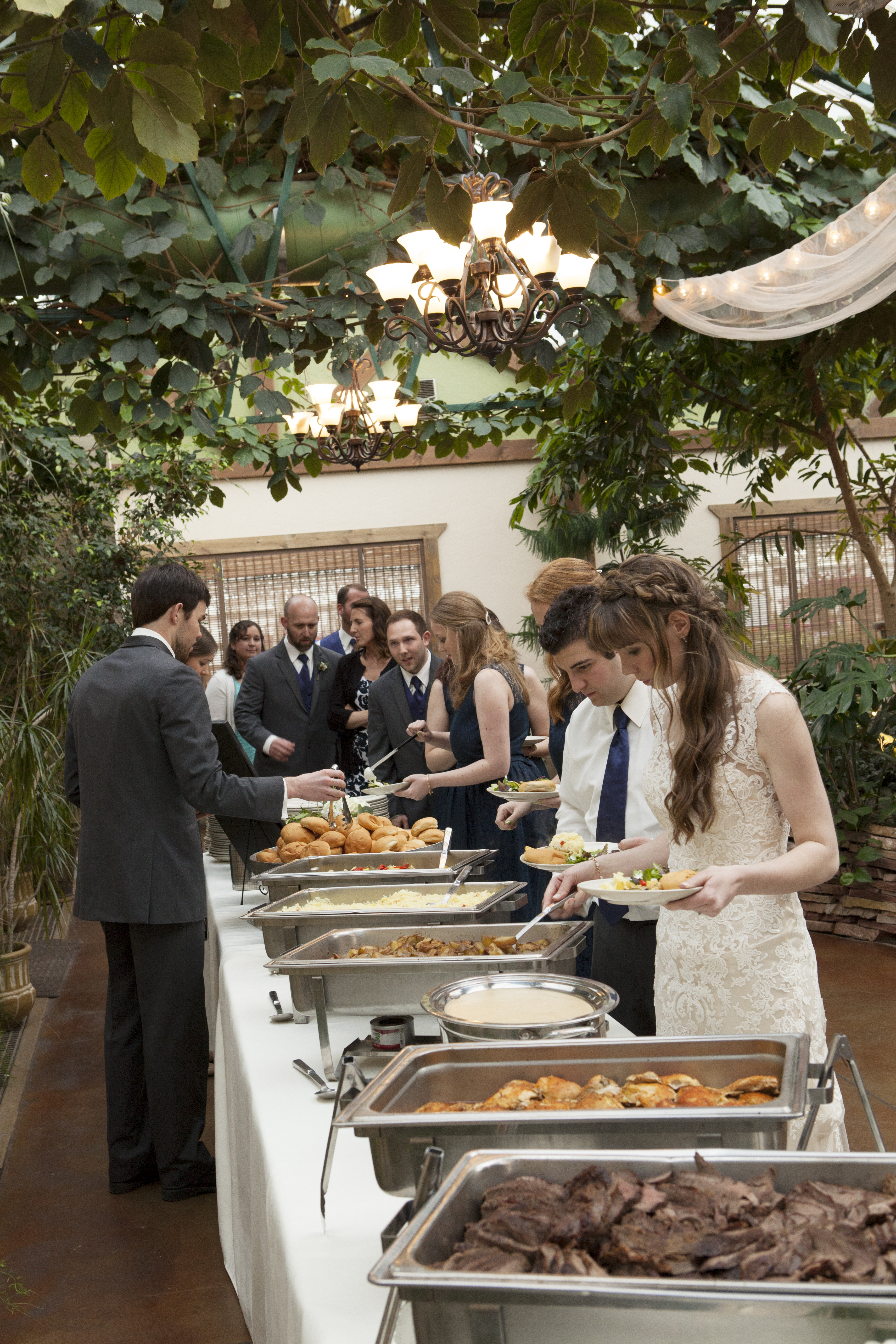 buffet wedding catering